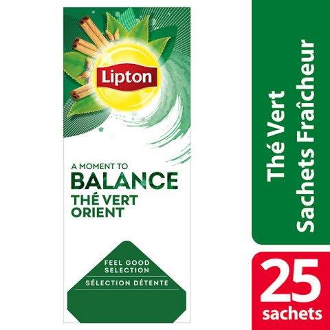 Lipton Thé vert orient 25 sachets fraîcheur - Lipton sachets fraîcheur, une gamme unique pour chaque moment de la journée.