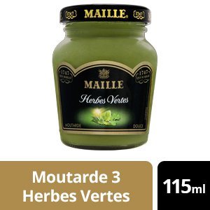Maille Moutarde aux Herbes Vertes - 12 x 115 ml -