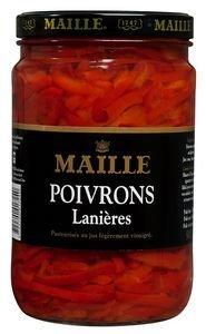 Maille Poivrons Rouges Lanières Bocal 1,6 kg -