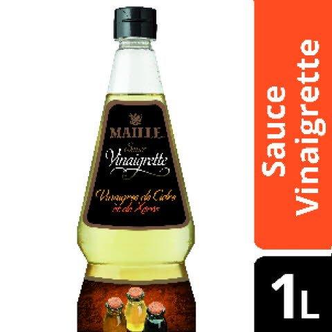 Maille Sauce Vinaigrette au 3 vinaigres - 1 bouteille de 1L - Fidéli'Chef -