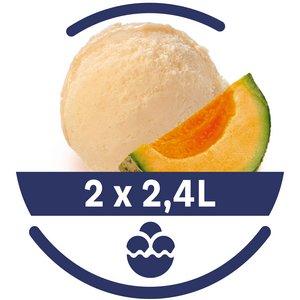 Mon Petit Glacier Bac Melon de Cavaillon - 2 x 2,4 L -