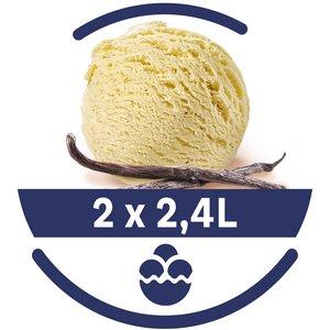 Mon Petit Glacier Bac Vanille Bourbon - 2 x 2,4 L -