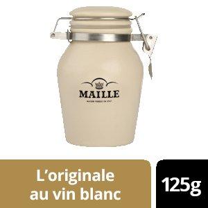 NOUVEAU - Maille L'originale au vin blanc - Pot Grès - 6 x 125g -