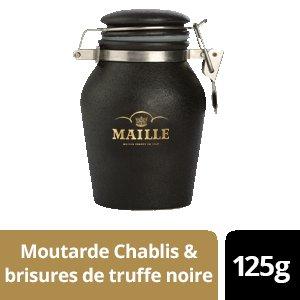 NOUVEAU - Maille Moutarde au Chablis & Brisures de truffe noire - Pot Grès - 6 x 125g -
