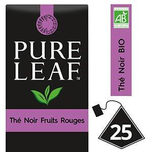 Pure Leaf BIO Thé Noir aux Fruits Rouges 25 sachets pyramides -