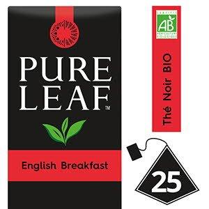 Pure Leaf BIO Thé Noir English Breakfast 25 sachets pyramides -