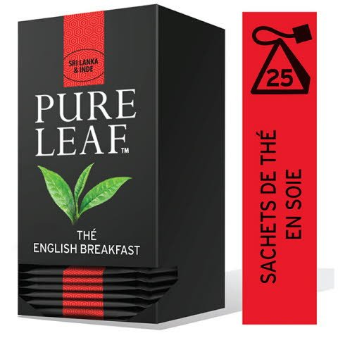 Pure Leaf Thé Noir English Breakfast 25 sachets pyramides -