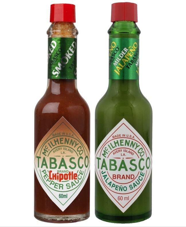 Une bouteille de Tabasco Chipotlé et une bouteille de Tabasco Vert offertes !