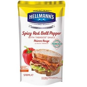 Une Hellmann's Sauce Sandwich et Burger Poivron Rouge & Tabasco® 570ml offerte ! -