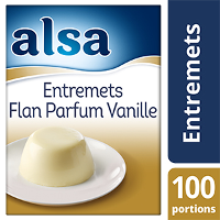 Alsa Entremets-Flan Parfum Vanille 900g 100 portions