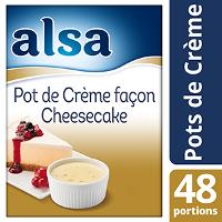 Alsa Pot de crème façon Cheesecake 800g 48 portions