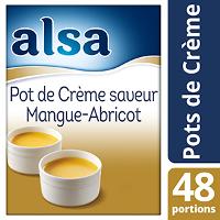 Alsa Pot de Crème Mangue/Abricot 700g 48 portions