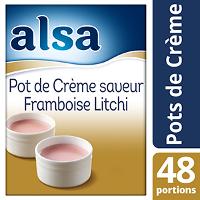 Alsa Pot de Crème Saveur Framboise Litchi 720g 48 portions