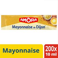 Amora Mayonnaise de Dijon - Carton de 200 dosettes de 10ml