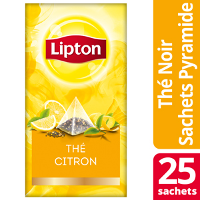 Lipton Exclusive Selection Thé Citron 25 sachets pyramide