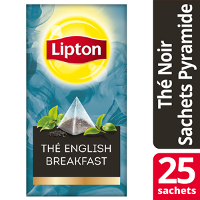 Lipton Exclusive Selection Thé English Breakfast 25 Sachets Pyramides