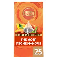 Lipton Exclusive Selection Thé Pêche et Mangue 25 sachets pyramides