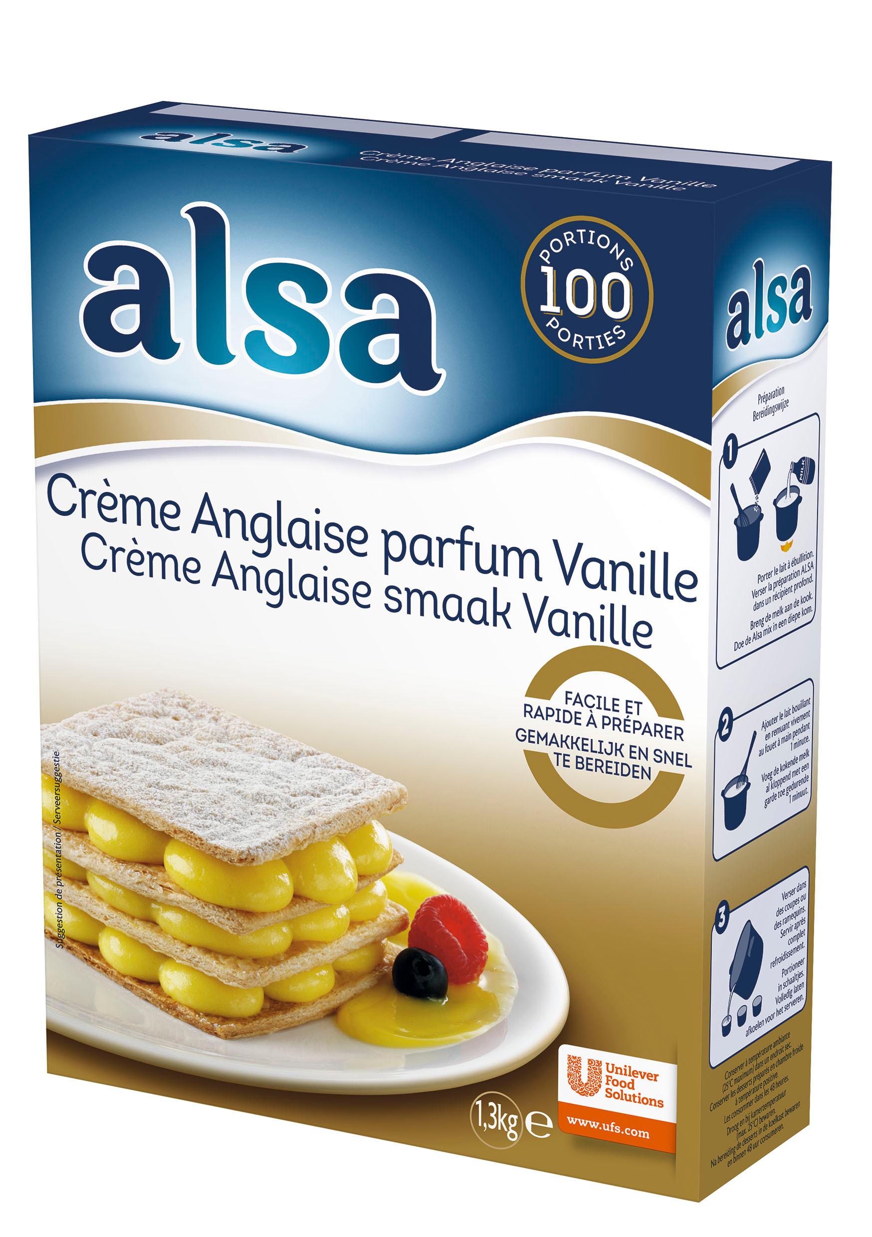 Alsa Crème Anglaise Express 1,3kg 100 portions