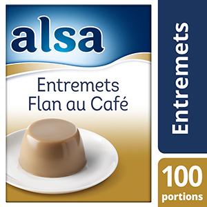 Alsa Entremets-Flan au Café 1,1kg 100 portions