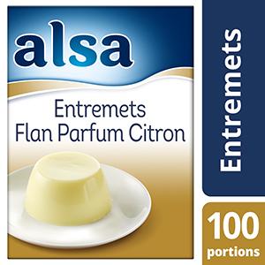 Alsa Entremets-Flan Parfum Citron 850g 100 portions