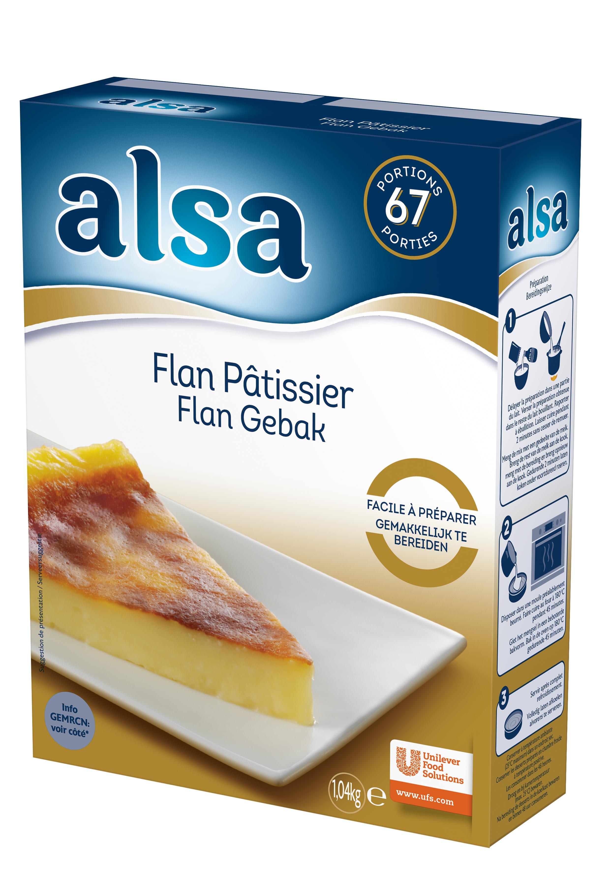 Alsa Flan Pâtissier 1,04kg 67 portions - Faites de chaque jour un régal avec les Pots de Crème Alsa !