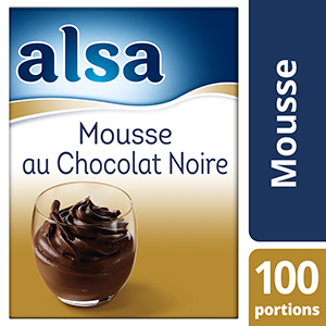 Alsa Mousse au Chocolat Noir 1,3kg 100 portions - Faites de chaque jour un régal avec les mousses Alsa !