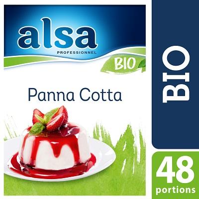 Alsa Panna Cotta Bio 480g 48 portions - La Panna Cotta Bio alsa me permet de réaliser facilement de savoureux desserts bio