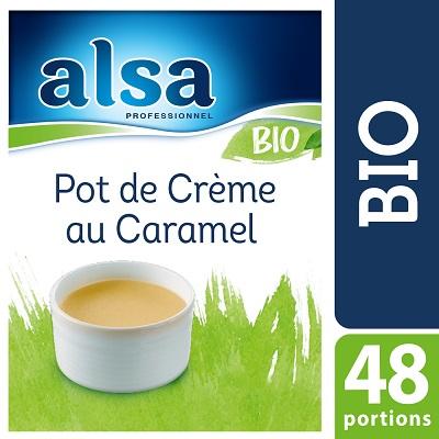 Alsa Pot de Crème au Caramel Bio 640g 48 portions - Le Pot de Crème au Caramel Bio alsa me permet de réaliser facilement de savoureux desserts bio