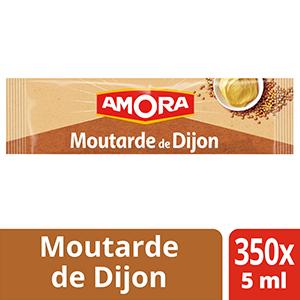 Amora Moutarde de Dijon Sachets 5ml x 350  - La Moutarde Amora®, idéale pour apporter finesse et piquant à chacun de vos plats.