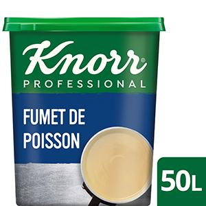 Knorr Fumet de Poisson Déshydraté Boîte 750g jusqu'à 50L  - Le Fumet de Poisson Knorr apporte finesse et équilibre à vos sauces sans les dénaturer.