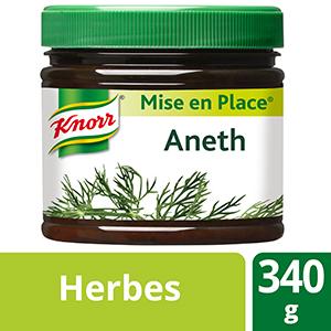 Knorr Mise en place Aneth Pot 340g - Les Mise en Place Knorr sont conçues avec des produits de qualité, qui restituent tout le bouquet aromatique des herbes fraiches.