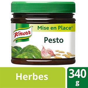 Knorr Mise en place Pesto 340g - La Mise en Place Pesto KNORR® est un véritable concentré de saveurs.