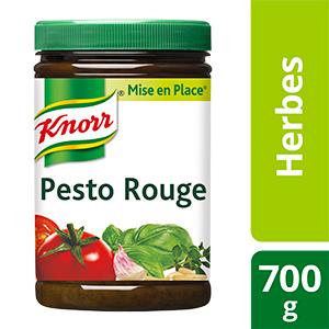 Knorr Mise en place Pesto Rouge 700g - Les Mise en Place Knorr sont conçues avec des produits de qualité, qui restituent tout le bouquet aromatique des herbes fraiches.