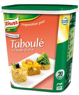 Knorr Préparation pour taboulé 20 portions - Proposez à vous convives des plats goûteux, faciles à préparer et rapides à mettre en œuvre