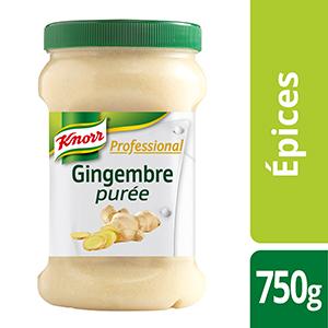 Knorr Professional Purée de gingembre Pot 750g - Des recettes développées en partenariat avec le chef étoilé Bruno Oger, pour vous donner la garantie du meilleur goût.
