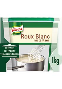 """Avec le Roux Blanc Knorr, je lie mes sauces à la perfection, instantanément.""""*"""