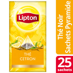 Lipton Exclusive Selection Thé Citron 25 sachets pyramide -