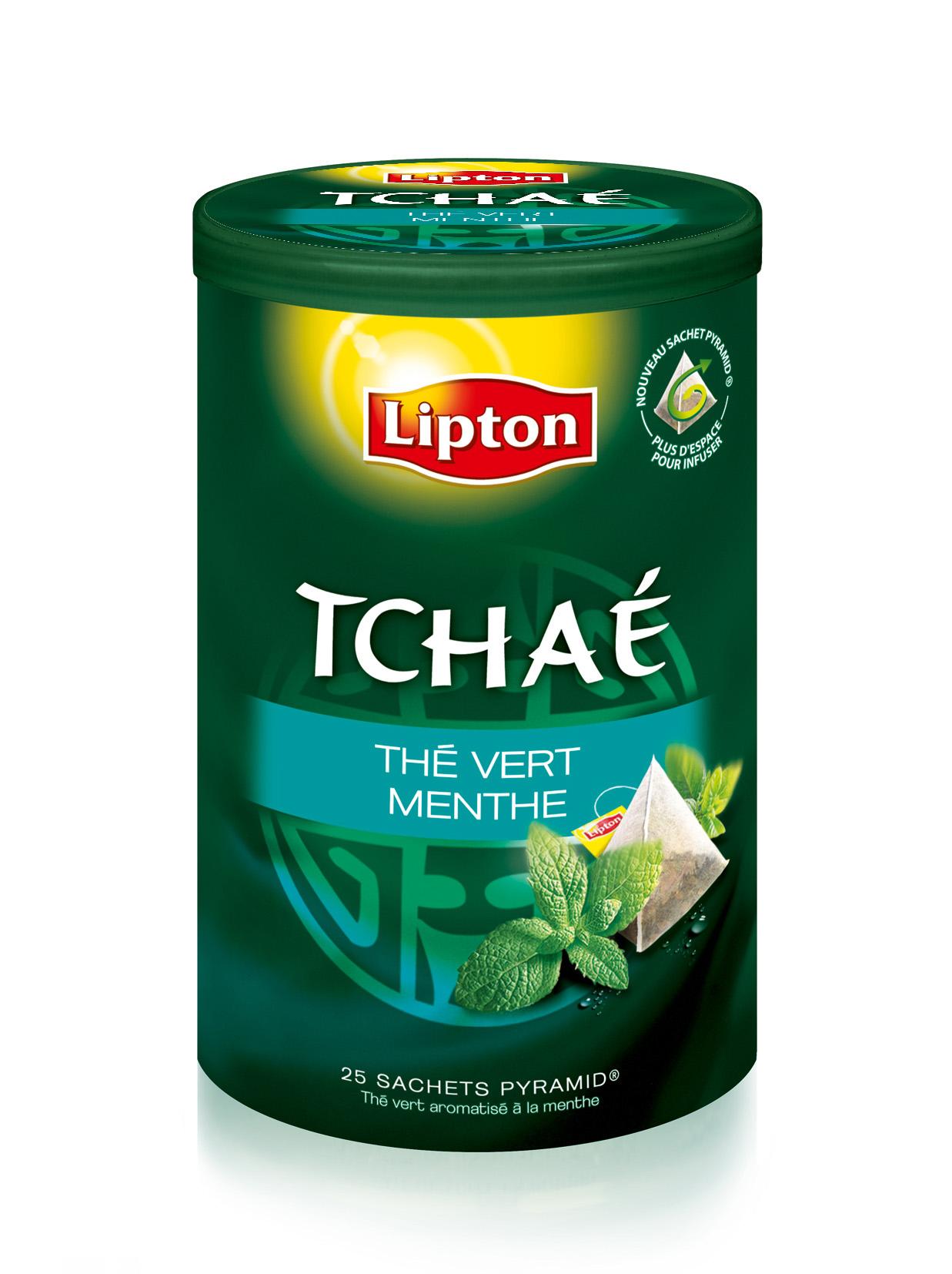 Lipton Exclusive selection Thé Vert Menthe Tchaé 25 sachets pyramides