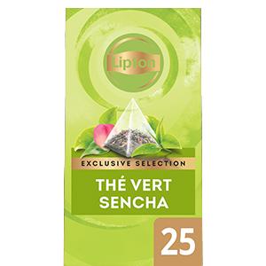 Lipton Exclusive Selection Thé Vert Sencha 25 sachets pyramide -