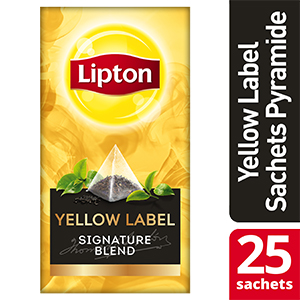 Lipton Exclusive Selection Yellow Label 25 sachets pyramides -