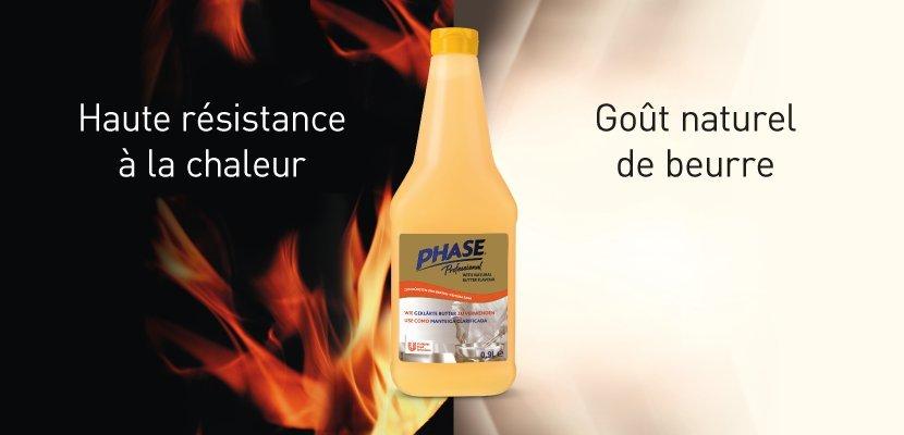 Phase Professionnel - Liquide végétal à l'arôme naturel de beurre 0.9 l - 2 en 1