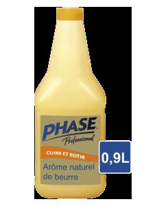 Phase Professionnel - Liquide végétal à l'arôme naturel de beurre 0.9 l - Avec Phase, associez le croustillant d'une cuisson à l'huile à la finesse du goût de beurre.