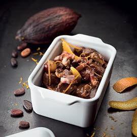 Le Bourguignon sauce chocolat agrumes