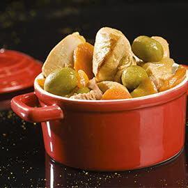 Sauté de Dinde aux olives vertes et carottes