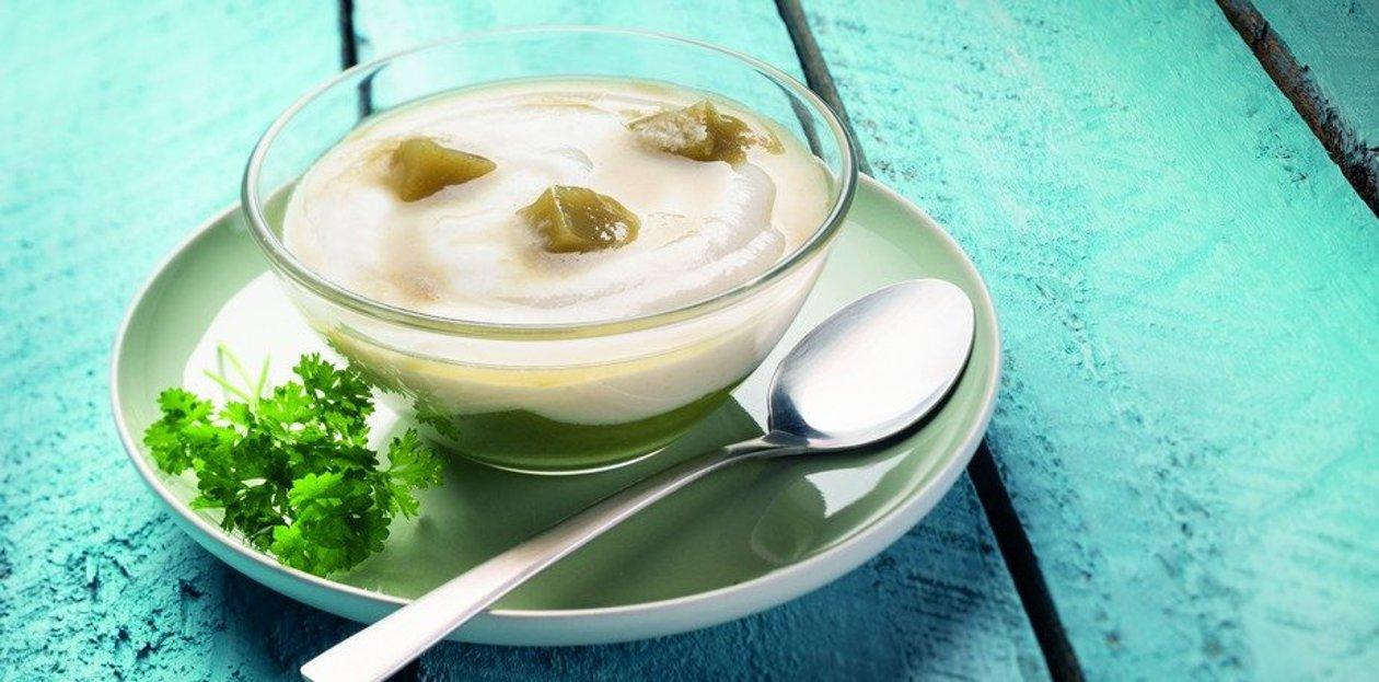 Aile de raie, jus de citron et câpres gélifiés, purée de haricots verts aux algues marines ( Texture modifiée ) – Recette