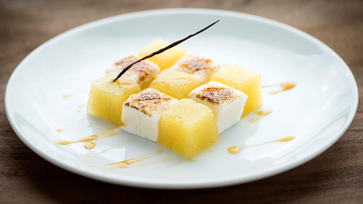 Ananas guimauve (Texture modifiée) – Recette
