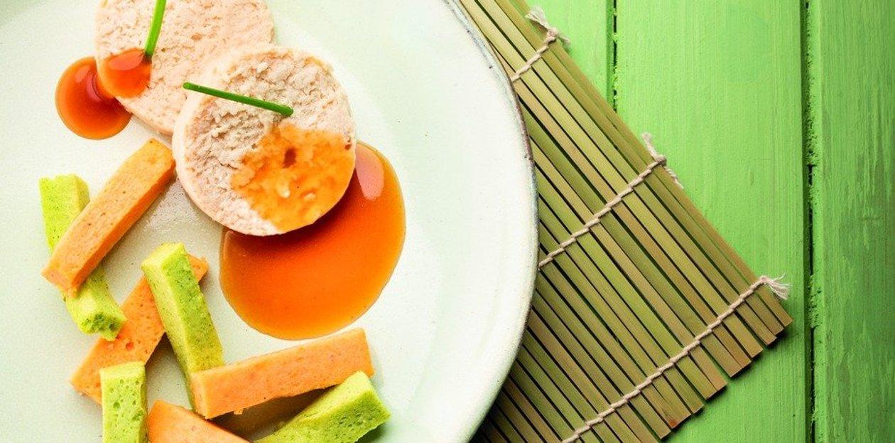 Ballotine de Poulet à la vanille ( Texture manger-mains ) – Recette