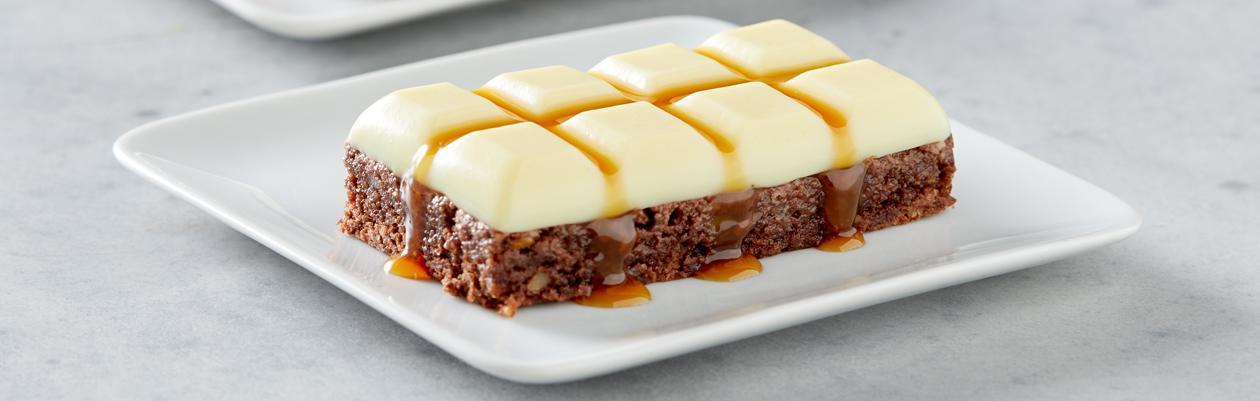 Brownie au chocolat, crème caramel – Recette