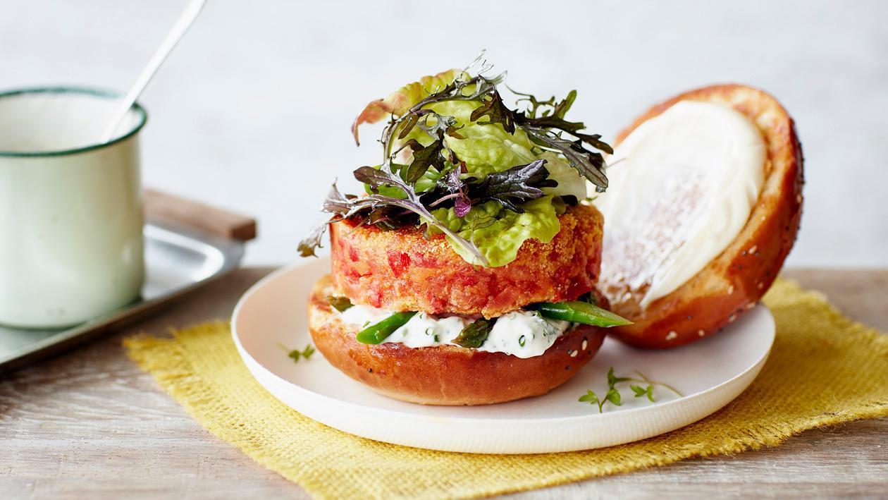 Burger tomate poivron – Recette