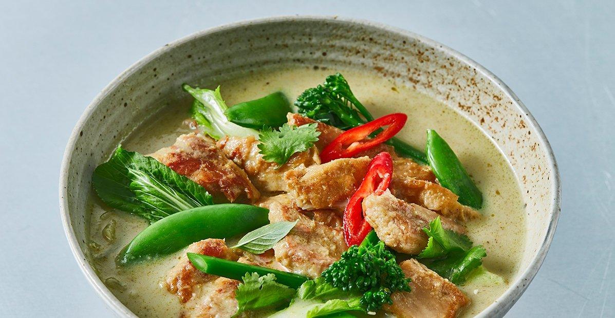 Curry vert thaï végétarien – Recette